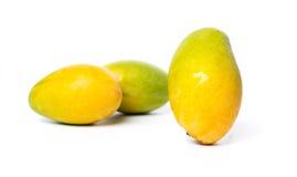 在白色隔绝的芒果果子 免版税图库摄影