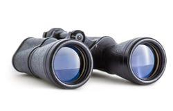 在白色隔绝的苏联军队双筒望远镜 免版税图库摄影