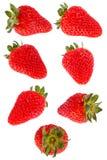 在白色隔绝的草莓莓果 免版税图库摄影
