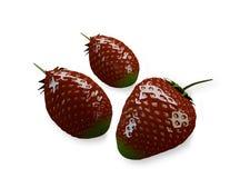 在白色隔绝的草莓 免版税库存图片