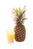 在白色隔绝的菠萝 图库摄影