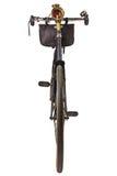 在白色隔绝的葡萄酒19世纪自行车 免版税库存图片