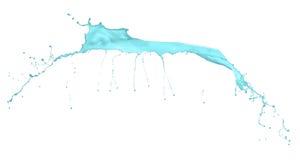 在白色隔绝的蓝色飞溅 免版税图库摄影