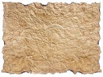 在白色隔绝的被弄皱的纸纹理  库存图片