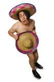 在白色隔绝的赤裸墨西哥人 免版税库存图片