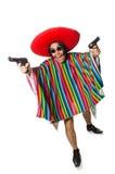 在白色隔绝的赤裸墨西哥人 库存照片