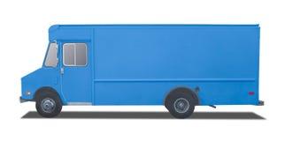 在白色隔绝的送货卡车 免版税库存照片