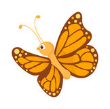 在白色隔绝的逗人喜爱的蝴蝶传染媒介 库存例证