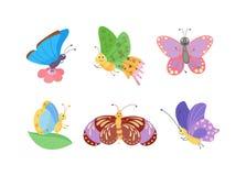 在白色隔绝的逗人喜爱的蝴蝶传染媒介 皇族释放例证
