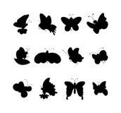 在白色隔绝的逗人喜爱的蝴蝶传染媒介 向量例证