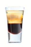 在白色隔绝的酒精鸡尾酒 免版税库存图片