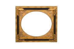 在白色隔绝的镜子框架 库存照片