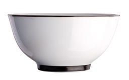 在白色隔绝的陶瓷茶碗 库存照片