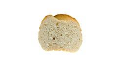 在白色隔绝的面包的部分 库存图片