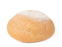 在白色隔绝的面包 库存照片