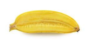 在白色隔绝的香蕉切片 库存图片