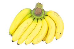 在白色隔绝的香蕉束 库存照片