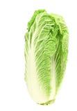 在白色隔绝的鲜美大白菜 免版税图库摄影