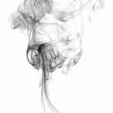 在白色隔绝的黑烟 免版税库存照片