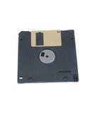 在白色隔绝的黑磁盘 免版税库存照片