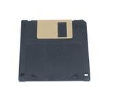在白色隔绝的黑磁盘 免版税库存图片
