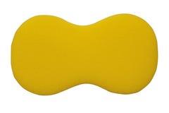 在白色隔绝的黄色海绵 免版税库存照片