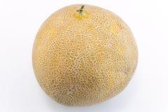 在白色隔绝的黄色瓜 库存图片