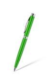 在白色隔绝的绿色笔 图库摄影