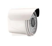 在白色隔绝的间谍照相机 免版税库存照片