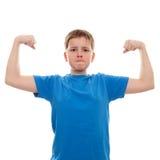 画象坚强的十几岁的男孩 免版税库存图片