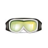 在白色隔绝的滑雪玻璃 免版税库存照片