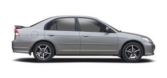 在白色隔绝的Hond民事轿车 免版税图库摄影