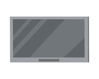 在白色隔绝的LED电视大等离子屏幕 免版税库存照片