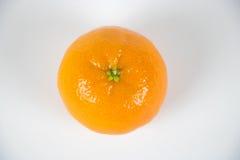 在白色顶视图的新鲜的橙色柑桔 免版税库存图片