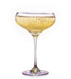 在白色香槟隔绝的杯 库存照片