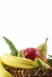 在白色,文本的空间的水果篮 库存照片
