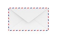 在白色, 3D的空白的航寄信封翻译 免版税库存图片
