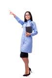 在白色医疗概念的年轻女性医生隔绝的 皇族释放例证