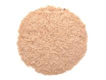 在白色(被撤销的酵母)隔绝的营养酵母 库存图片