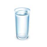 在白色水隔绝的杯 免版税库存照片