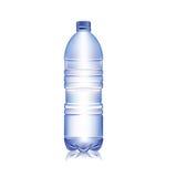 在白色水隔绝的瓶 库存图片
