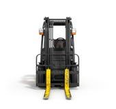 在白色3D例证的铲车装载者 库存例证