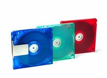 在白色(MD)隔绝的迷你激光唱片 库存图片