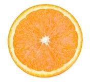 在白色backdround橙色果子隔绝的切片 图库摄影