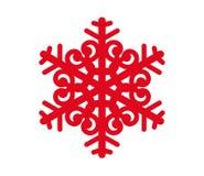 在白色backgraund的红色snowlake 免版税库存照片
