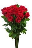 从在白色backgro隔绝的英国兰开斯特家族族徽的五颜六色的花花束 免版税库存照片