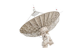 在白色backgrou隔绝的卫星盘天线雷达大大小 库存图片