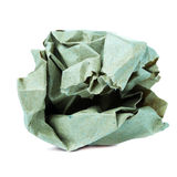 在白色backgrou隔绝的被弄皱的五颜六色的被回收的纸球 免版税库存照片