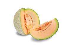 在白色backgroun隔绝的橙色瓜果子 免版税库存照片