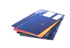 在白色background.illustration隔绝的信用卡 库存照片